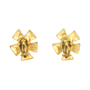 Authentic Vintage Christian Lacroix Flower Turquoise Earrings (TFC-203-00033) - Thumbnail 1