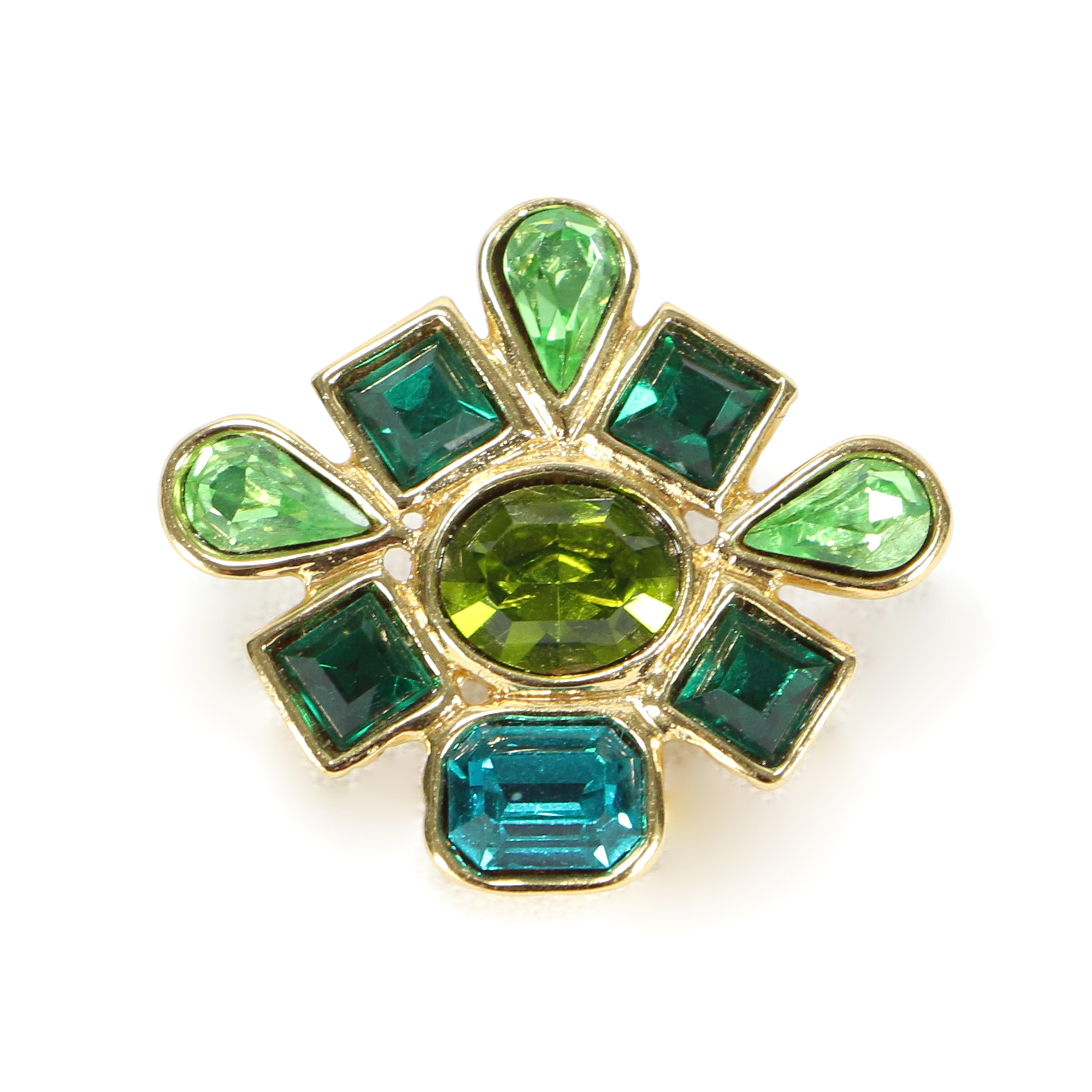 b99edea4dca Authentic Vintage Yves Saint Laurent Multi Crystal Brooch (TFC-203-00037) -  THE FIFTH COLLECTION