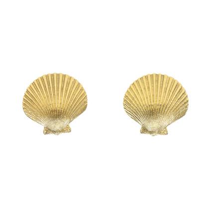 Authentic Vintage Yves Saint Laurent Seashell Earrings (TFC-203-00041)