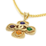 Chanel 1995 Glass Stone Cross Necklace - Thumbnail 2