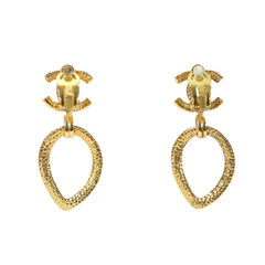 Chanel logo dangle earrings 2