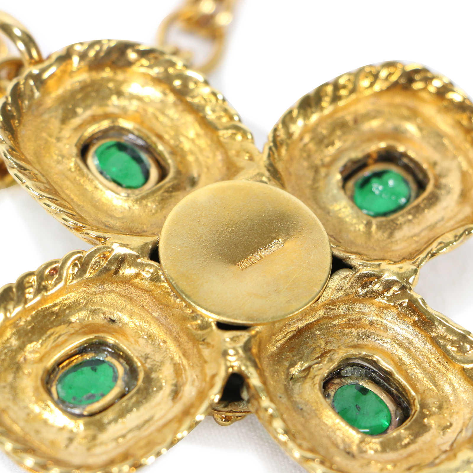 Authentic Vintage Chanel Byzantine Large Cross Necklace (TFC-203