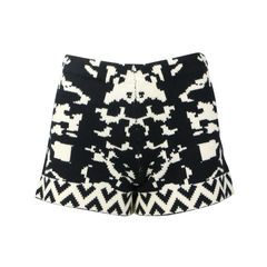 Intarsia Knitted Shorts
