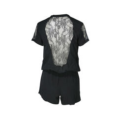 Maje lace back romper 3