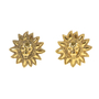 Authentic Vintage Chanel Leo Sun Clip Earrings (TFC-203-00024) - Thumbnail 0