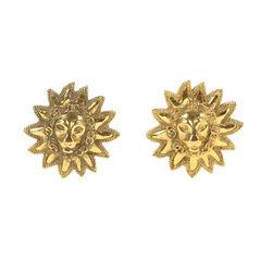 Leo Sun Clip Earrings