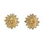 Authentic Vintage Chanel Leo Sun Clip Earrings (TFC-203-00024) - Thumbnail 1