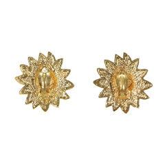 Chanel leo sun clip earrings 2