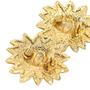 Authentic Vintage Chanel Leo Sun Clip Earrings (TFC-203-00024) - Thumbnail 3