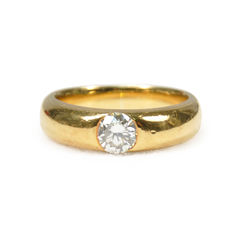 Yellow Ring with Diamond