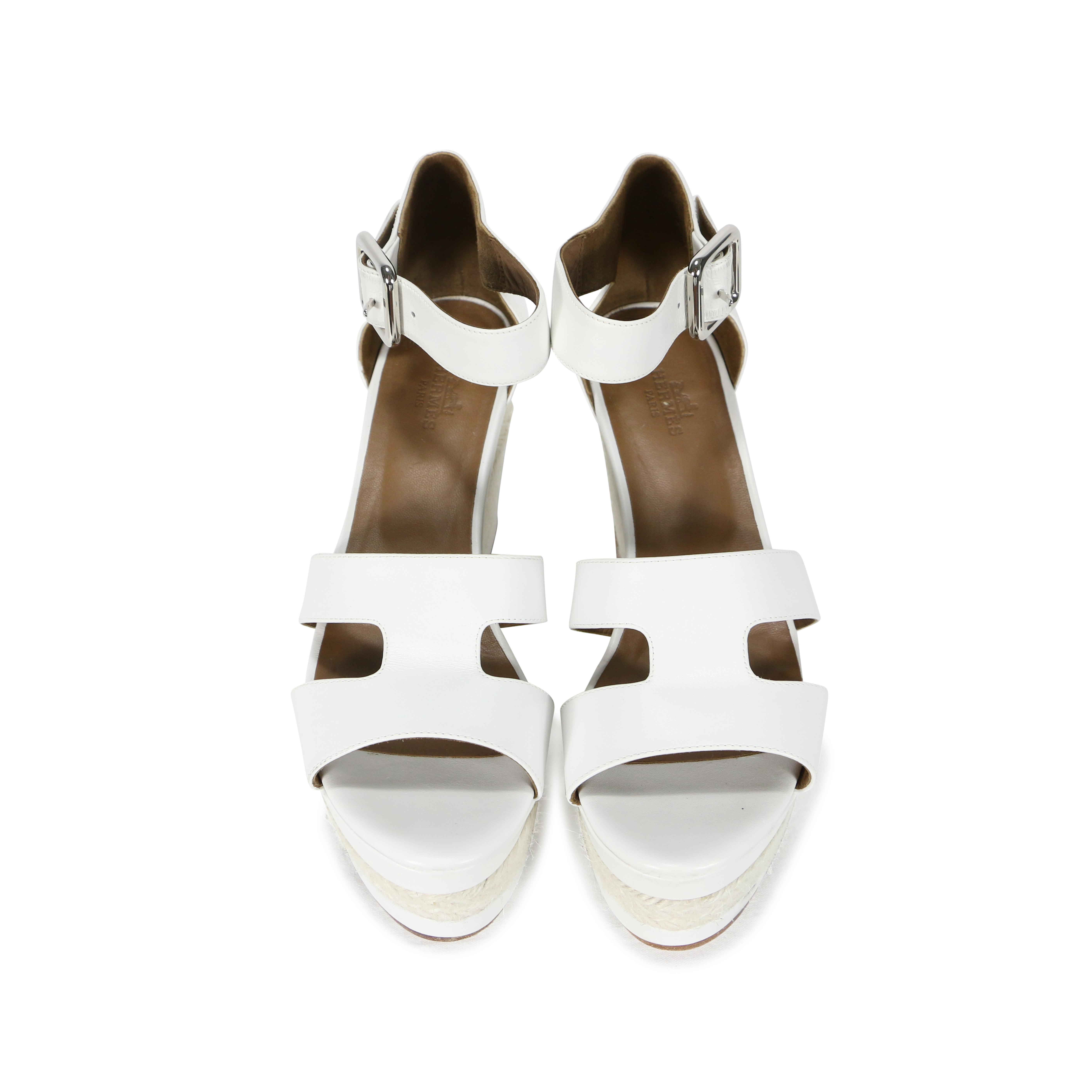 Hermès Espadrille Wedge Sandals outlet websites dUsgxYVg