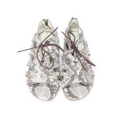 Romanesque Snakeskin Sandals
