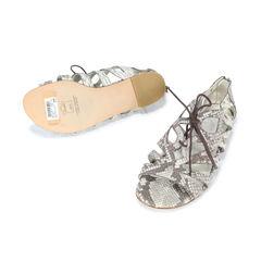 Stuart weitzman romanesque snakeskin sandals 2