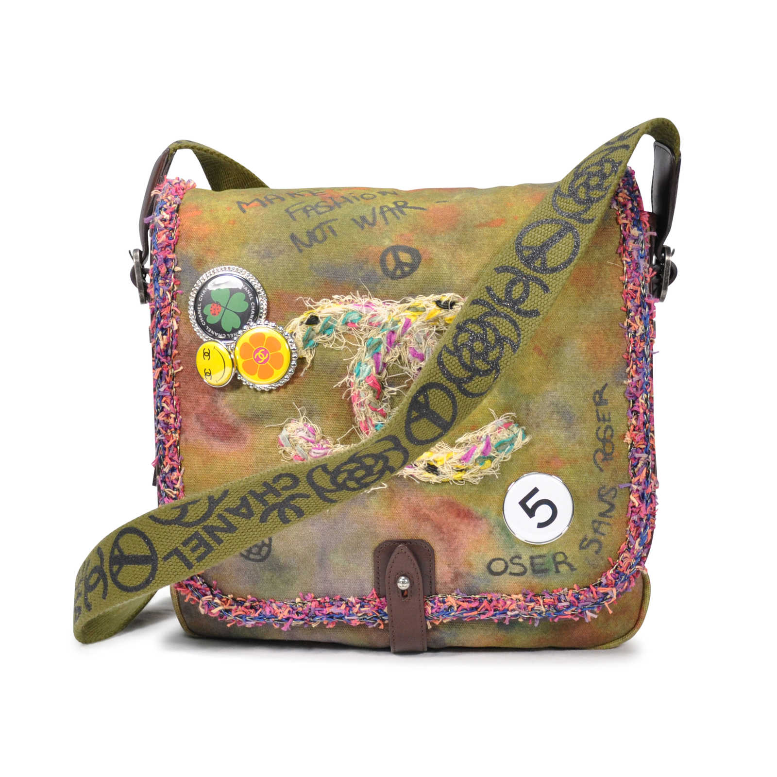 de068ba440a6 Authentic Second Hand Chanel Graffiti on the Pavements Messenger Bag  (PSS-051-00029 ...