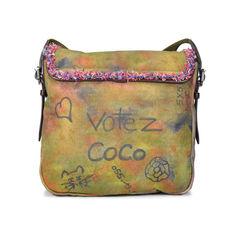 Chanel washed fabric messenger bag 2