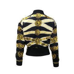 Versus printed silk bomber jacket 2