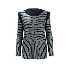 Rhinestone Zebra Tunic