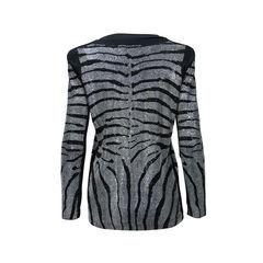 Balmain rhinestone zebra tunic 2