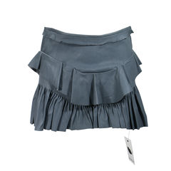 Cyan Ruffle Mini Skirt
