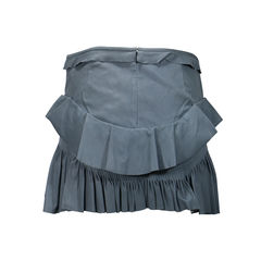 Isabel marant cyan ruffle mini skirt 2