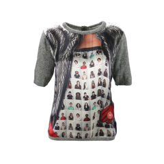 Photo Print Blouse