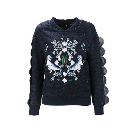 Authentic Second Hand Three Floor Rex Embellished Sweatshirt (PSS-088-00070)