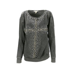 Embellished Cross Sweater