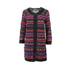Wavy Striped Knit Dress