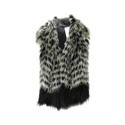 Yigal Azrouel Raccoon Fur Hooded Vest