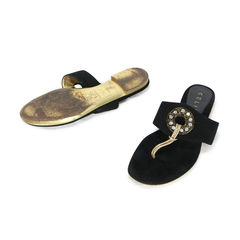 Celine crystal embellished slippers 2