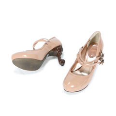 Anna sui patent strap carved heel 2