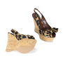 Authentic Second Hand Louis Vuitton Leopard Print Wedge Sandals (PSS-200-00238) - Thumbnail 2