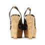Authentic Second Hand Louis Vuitton Leopard Print Wedge Sandals (PSS-200-00238) - Thumbnail 4