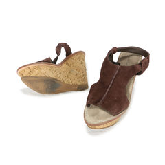 Elizabeth and james cork suede platform wedges 2