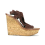 Authentic Second Hand Elizabeth and James Cork Suede Platform Wedges (PSS-200-00248) - Thumbnail 3