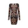Alexander Mcqueen Stained Glass Jersey Stretch Dress - Thumbnail 0