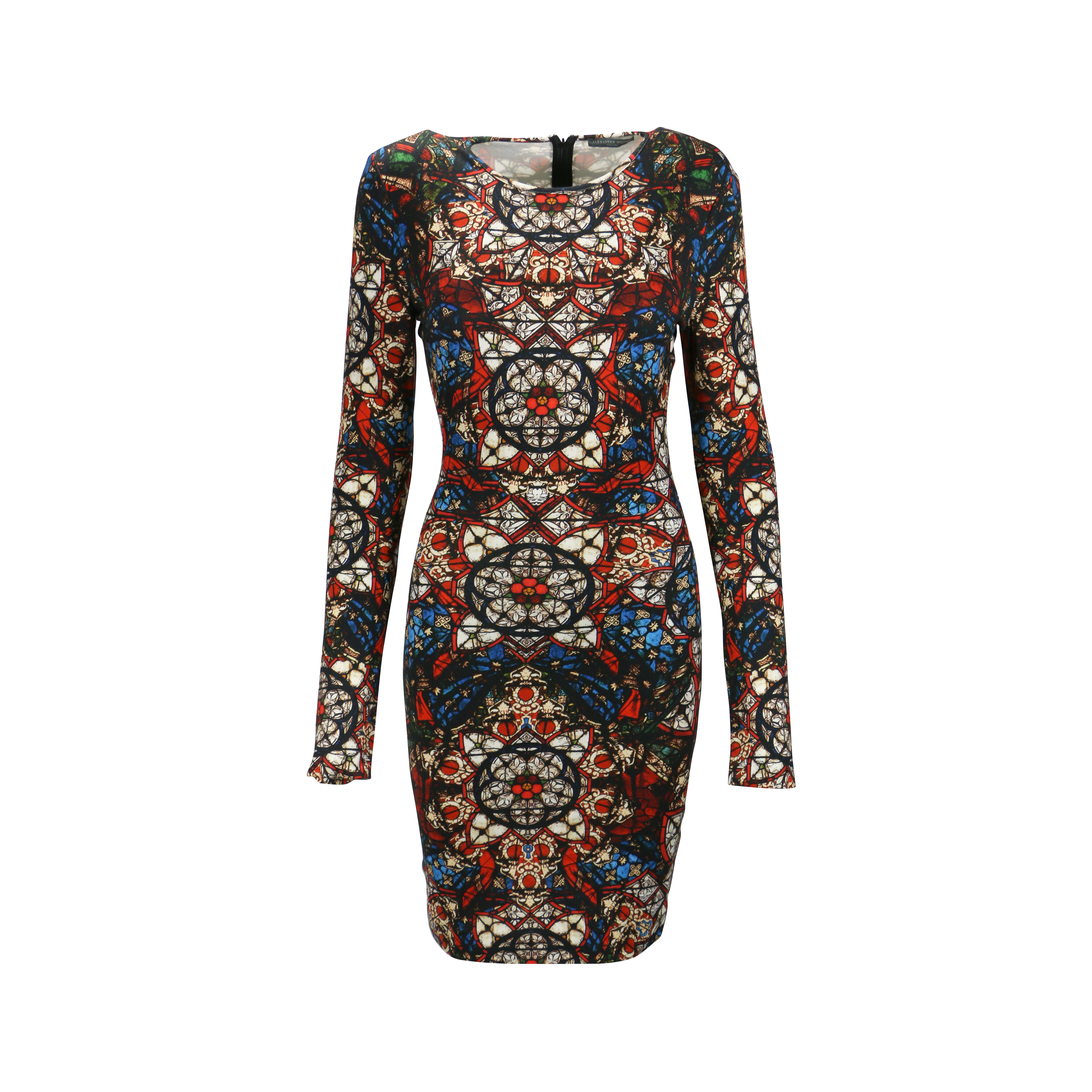 a1ad8270456 Authentic Second Hand Alexander McQueen Stained Glass Jersey Stretch Dress  (PSS-093-00022)