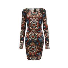 Stained Glass Jersey Stretch Dress
