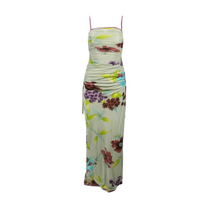 Authentic Second Hand Leonard Floral Gathered Dress (PSS-093-00027)