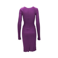Alberta ferretti long sleeve gathered dress 2