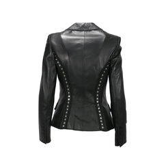 Antonio berardi stud panelled leather jacket 2