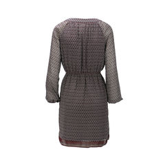 Max studio long sleeve dress with split neck 2