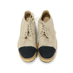 Canvas Cap-Toe Platform Oxfords