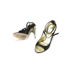 Giuseppe zanotti wrapped leaf gold heel peep toes 2
