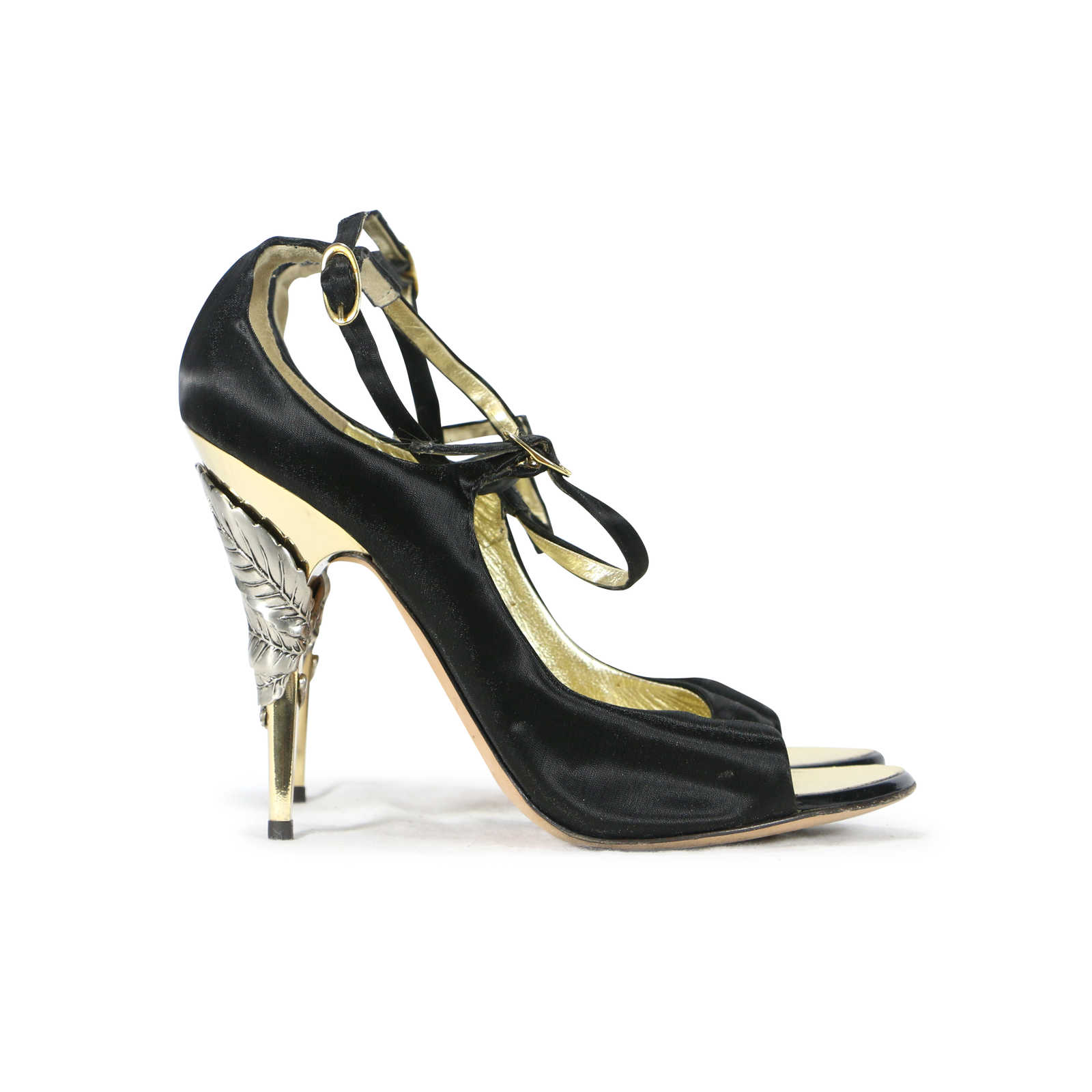 Authentic Second Hand Giuseppe Zanotti Wrapped Leaf Gold