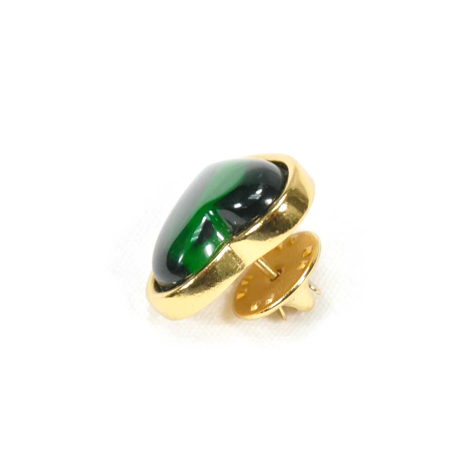 0fd09ffaa09 ... Authentic Vintage Yves Saint Laurent Glass Heart Brooch Green  (TFC-203-00034) ...