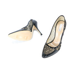 Roberto cavalli lace pointed pumps 2