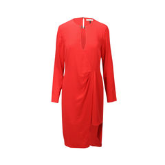 Keyhole Long Sleeve Tunic Dress