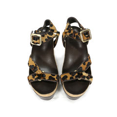 Brenden Leopard Print Calf Hair Sandals