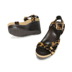 Tory burch leopard print calf hair sandals 2